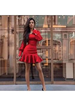 Czerwona Sukienka   butikjola.pl - kod rabatowy
