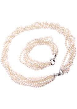 ASAMI, komplet biżuterii z białych pereł Braccatta   - kod rabatowy