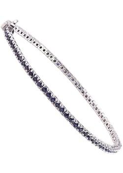 NIKI Srebrna bransoletka z szafirami, celebrytka 4,1ct  Braccatta  - kod rabatowy