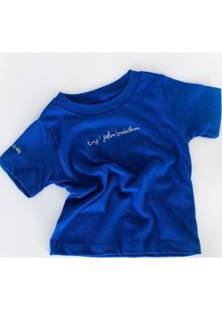 """koszulka - niebieski """"brudasek""""   JAGAbaby okazja  - kod rabatowy"""