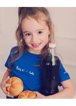 """koszulka - niebieski """"bułki i cola""""   okazyjna cena JAGAbaby  - kod rabatowy"""