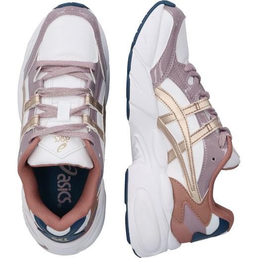 Buty sportowe damskie Asics Sportstyle młodzieżowe wielokolorowe bez wzorów sznurowane na płaskiej podeszwie