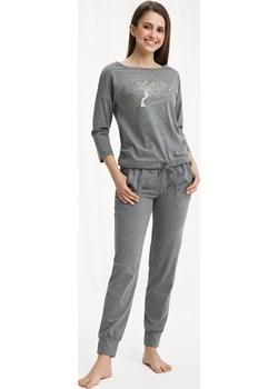 Bawełniana piżama damska LUNA 460 szara  Luna bodyciao - kod rabatowy