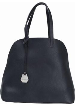 Duża torebka damska miejska Shopper 3w1 czarna   Torebki Inspirowane wyprzedaż  - kod rabatowy