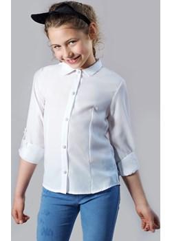 Biała Bluzka Dla Dziewczynki Z Długim Rękawem Jomar  Olek i Lenka - kod rabatowy