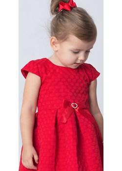 Czerwona Sukienka Dla Dziewczynki  Madżi okazja Olek i Lenka  - kod rabatowy