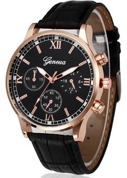 Zegarek męski GENEVA pasek skóra ELEGANCKI złoty  Geneva okazyjna cena crystalove.pl  - kod rabatowy