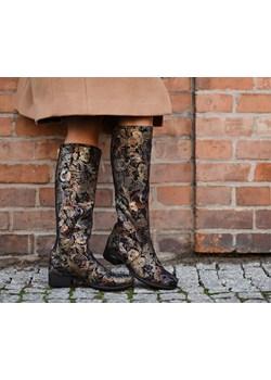 kozaki - skóra naturalna - model 160 - kolor złota mozaika Zapato  zapato.com.pl - kod rabatowy
