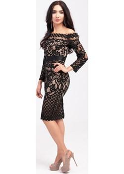 Sukienka z ażurowej elastycznej koronki   Butik Ecru - kod rabatowy
