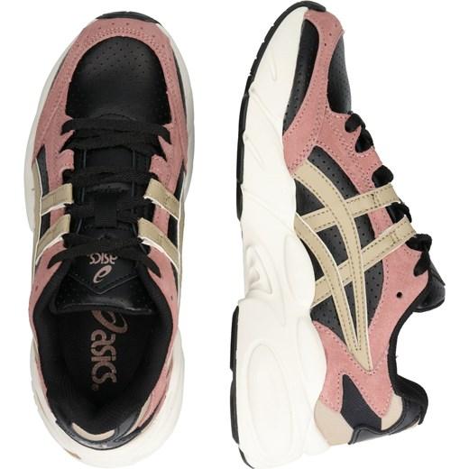 Buty sportowe damskie wielokolorowe Asics do biegania w stylu młodzieżowym bez wzorów skórzane sznurowane