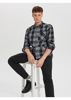 Cropp - Koszula w kratę - Czarny Cropp   - kod rabatowy