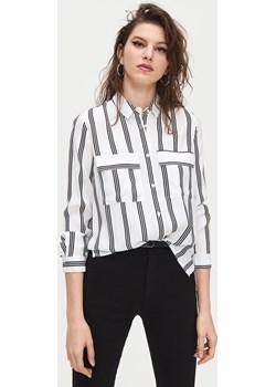 Cropp - Koszula w paski z wiskozy - Biały  Cropp  - kod rabatowy