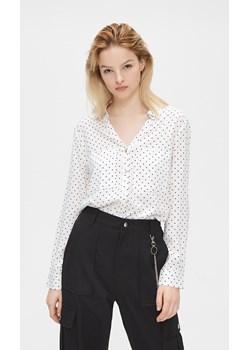 Cropp - Wiskozowa koszula - Biały Cropp   - kod rabatowy