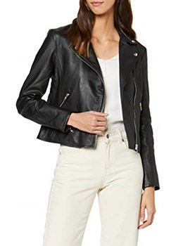 Selected Femme kurtka damska sfmarlen Leather Jacket noos, kolor: czarny (czarny)  Selected Femme Amazon okazja  - kod rabatowy