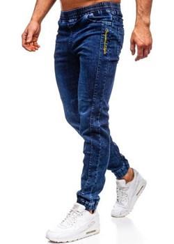 Spodnie jeansowe joggery męskie granatowe Denley HY562 Denley  okazja   - kod rabatowy