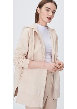 Sinsay - Długa bluza z kapturem - Kremowy  Sinsay  - kod rabatowy