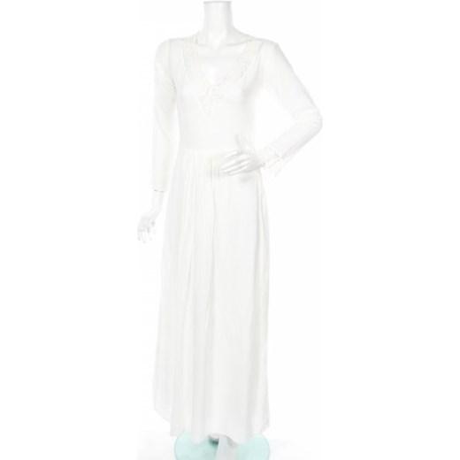 Sukienka biała United Colors Of Benetton maxi na karnawał rozkloszowana