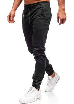 Spodnie joggery męskie czarne Denley KA951 Denley  promocja   - kod rabatowy