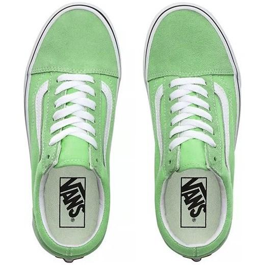 Vans trampki damskie old skool zielone sportowe płaskie sznurowane bez wzorów wiosenne