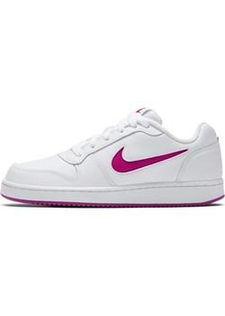 Buty damskie Nike Ebernon Low - Biel Nike szary wyprzedaż Nike poland  - kod rabatowy