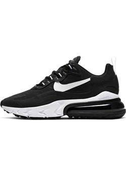 Buty damskie Nike Air Max 270 React - Czerń Nike wyprzedaż Nike poland - kod rabatowy