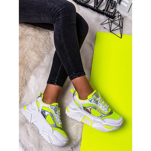 Sneakersy damskie Escoli wielokolorowe sportowe bez wzorów wiązane