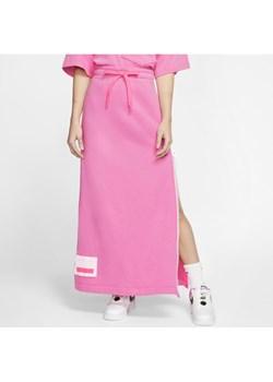 Damska spódnica z dzianiny Nike Sportswear NSW - Różowy Nike  okazja Nike poland  - kod rabatowy