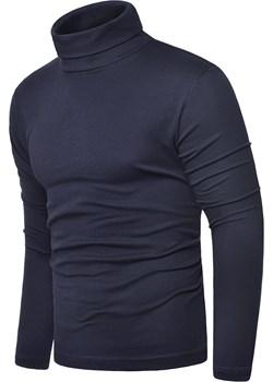 Bluza golf męski cmr6059 - stalowy Risardi   - kod rabatowy