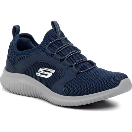 Niebieskie buty sportowe męskie Skechers