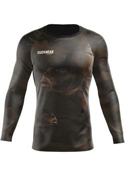 RASHGUARD LONGSLEEVE WĘDKARSKI KARP Zielony S Vision Wear Sport visionwearsport - kod rabatowy