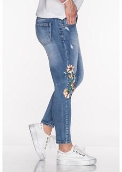 Włoskie jeansy FLOWERS przecierany jeans   Lagattini.pl - kod rabatowy