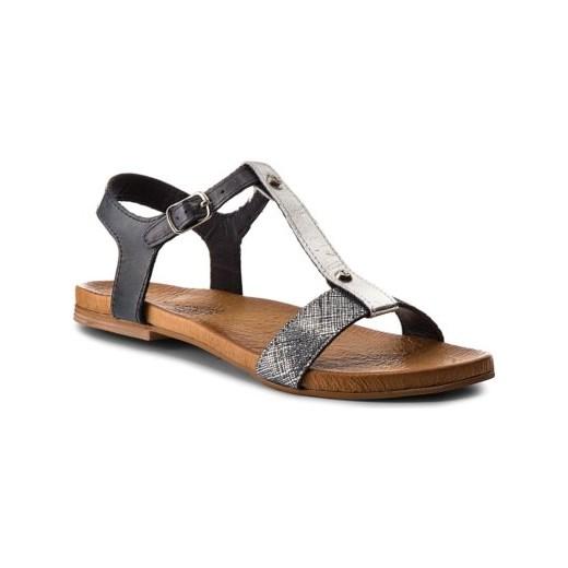 Sandały damskie Lasocki na lato z klamrą casual w Domodi