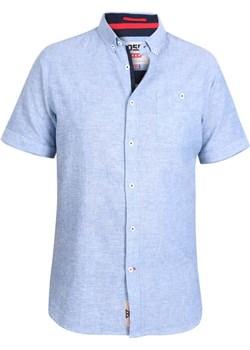 Duze rozmiary Koszula z krótkim rękawem lniana Brixton błękit (3XL) Duke Of London  8xl - kod rabatowy