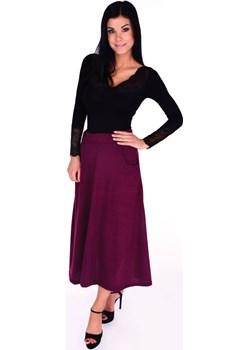 CONNIE, spódnica z kieszeniami bordowa Dedra Moja Dedra - domodi - kod rabatowy