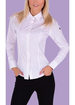 SOPHIA damska koszula, slim fit z długim rękawem white red dots Dedra Moja Dedra - domodi - kod rabatowy