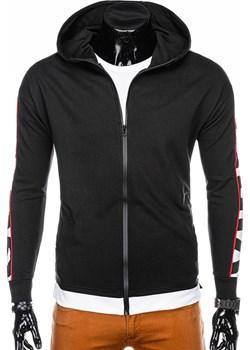 Bluza męska rozpinana z kapturem 1039B - czarna  Edoti.com  - kod rabatowy