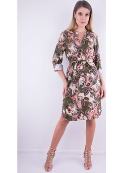 Sukienka w orientalny kwiatowy print 2808 2808, Rozmiar: 38  Wibs  - kod rabatowy