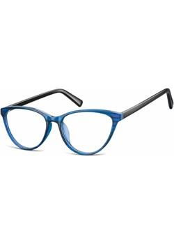 Oprawki korekcyjne okulary  Kocie Oczy zerówki Sunoptic CP127B niebiesko-czarne   Stylion - kod rabatowy