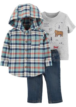 Zestaw 3el Koszula body jeansy promocyjna cena Carter's OshKosh - kod rabatowy