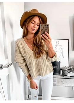 Sweter oversize beżowy  L'Amour wyprzedaż L'amour Boutique  - kod rabatowy
