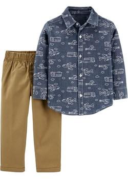Zestaw 2-el. spodnie koszula Samoloty wyprzedaż Carter's OshKosh - kod rabatowy
