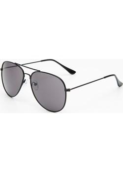 Cropp - Okulary aviatorki - Czarny  Cropp  - kod rabatowy