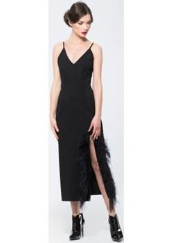 Czarna sukienka z wąskimi ramiączkami Ola Melcer   - kod rabatowy