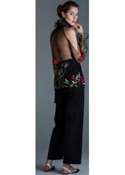 Elegancka czarna bluzka damska haft kwiaty Ola Melcer Ola Melcer - kod rabatowy