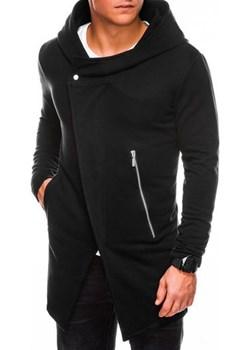 Bluza męska rozpinana z kapturem B668 HUGO - czarna ombre - kod rabatowy