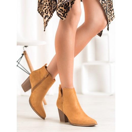czas na buty jesienne botki z zamszu