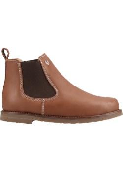 Trzewiki Dziecięce Brązowe Chelsea Boots Bambini Manufaktura promocyjna cena Conhpol elite - kod rabatowy
