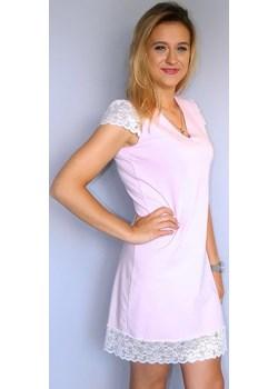 Koszula nocna bawełniana z koronkami, Sasanka  Equlik eQulik - bielizna nocna - kod rabatowy