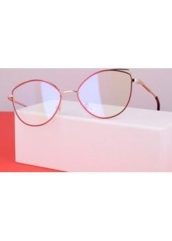Okulary zerówki DAMSKIE kocie oczy z antyrefleksem RED 2527-2   Stylion - kod rabatowy