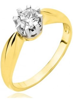 Złoty pierścionek z cyrkonią (łączone złoto)  Hosa  - kod rabatowy